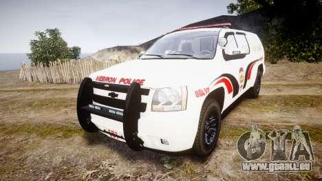 Chevrolet Suburban 2008 Hebron Police [ELS] Red pour GTA 4