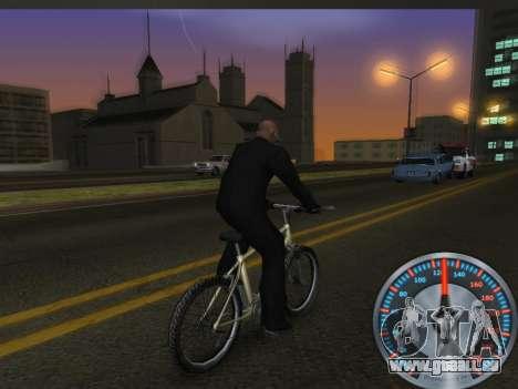 Métal classique de l'indicateur de vitesse pour GTA San Andreas cinquième écran