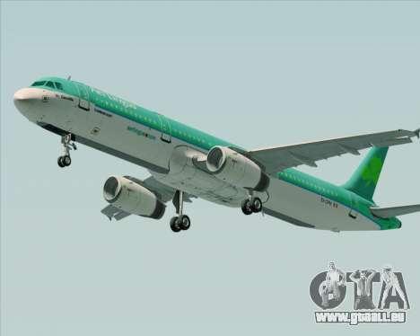 Airbus A321-200 Aer Lingus für GTA San Andreas zurück linke Ansicht