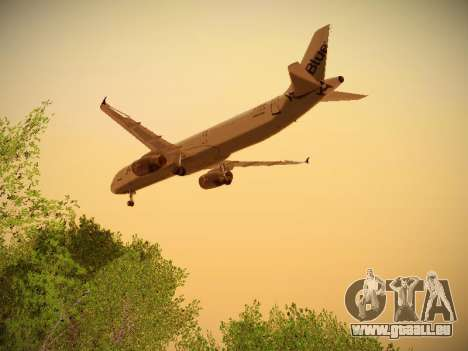 Airbus A321-232 jetBlue I love Blue York für GTA San Andreas Innenansicht