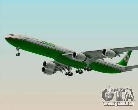 Airbus A340-600 EVA Air für GTA San Andreas Unteransicht