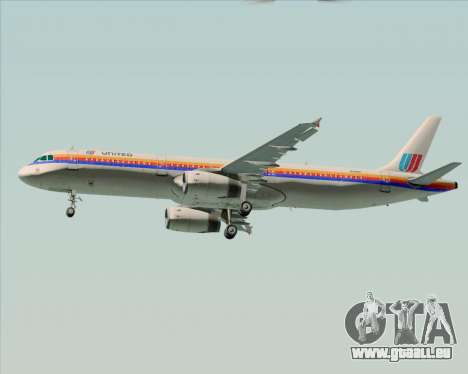 Airbus A321-200 United Airlines für GTA San Andreas Innenansicht