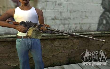 La Mitrailleuse Kalachnikov Modernisé pour GTA San Andreas troisième écran