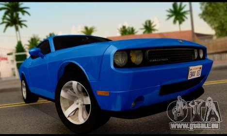Dodge Challenger SXT Plus 2013 für GTA San Andreas zurück linke Ansicht