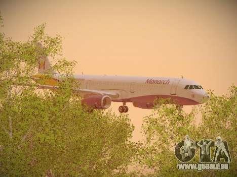Airbus A321-232 Monarch Airlines für GTA San Andreas Seitenansicht