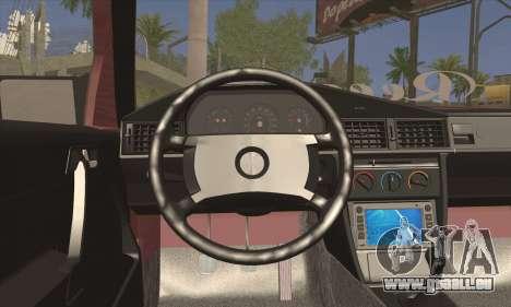 Mercedes-Benz W124 für GTA San Andreas zurück linke Ansicht