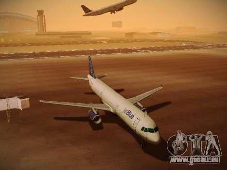 Airbus A321-232 jetBlue Whole Lotta Blue pour GTA San Andreas vue de dessous