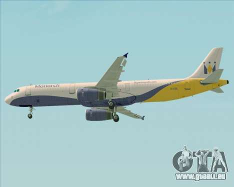 Airbus A321-200 Monarch Airlines für GTA San Andreas Räder