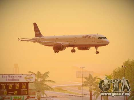Airbus A321-232 jetBlue Airways für GTA San Andreas Seitenansicht