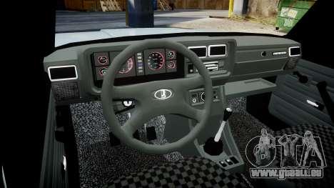 VAZ-2104 hooligan azerbaïdjanais style pour GTA 4 est une vue de l'intérieur