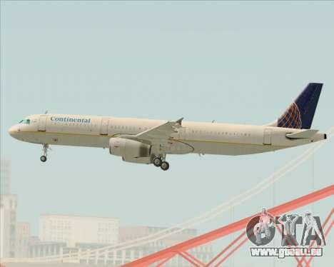 Airbus A321-200 Continental Airlines pour GTA San Andreas vue de côté