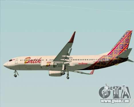Boeing 737-800 Batik Air pour GTA San Andreas vue de dessous