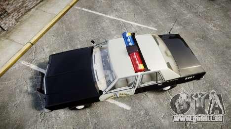 Ford LTD Crown Victoria 1987 Police CHP1 [ELS] pour GTA 4 est un droit