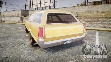 Oldsmobile Vista Cruiser 1972 Rims1 Tree5 pour GTA 4 Vue arrière de la gauche