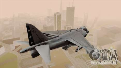 EMB AV-8 Harrier II USA NAVY pour GTA San Andreas laissé vue