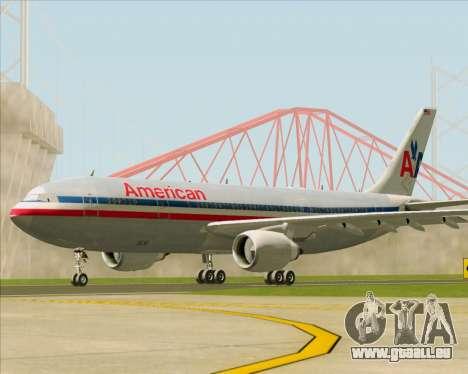 Airbus A300-600 American Airlines pour GTA San Andreas sur la vue arrière gauche