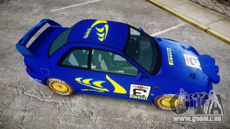 Subaru Impreza WRC 1998 Rally v2.0 Yellow pour GTA 4 est un droit