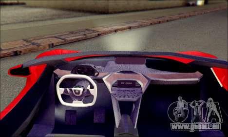 Specter Roadster 2013 pour GTA San Andreas sur la vue arrière gauche