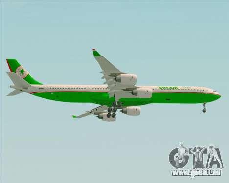 Airbus A340-600 EVA Air pour GTA San Andreas vue de droite