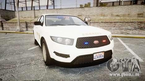 GTA V Vapid Interceptor LSS White [ELS] Slicktop für GTA 4