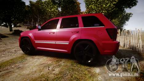 Jeep Grand Cherokee SRT8 license plates für GTA 4 linke Ansicht