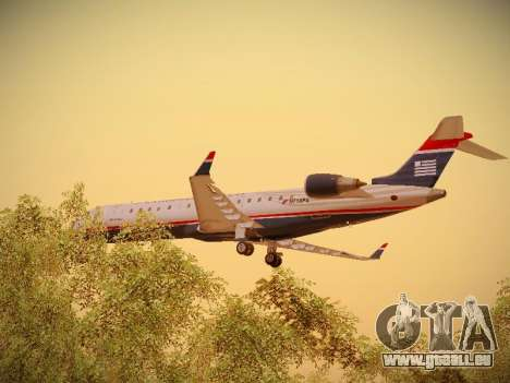 Bombardier CRJ-700 US Airways Express pour GTA San Andreas vue de dessous