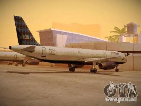 Airbus A321-232 jetBlue Airways für GTA San Andreas Rückansicht
