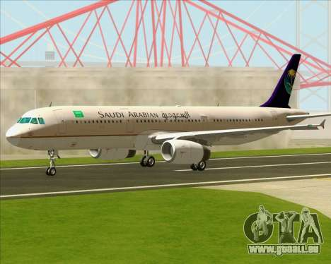 Airbus A321-200 Saudi Arabian Airlines pour GTA San Andreas vue intérieure