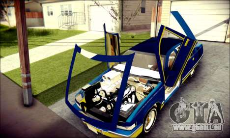Cadillac Fleetwood 1993 Lowrider pour GTA San Andreas vue intérieure