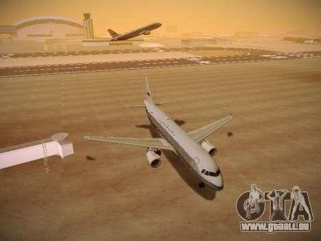 Airbus A320-214 Aeroflot Retrojet für GTA San Andreas Rückansicht