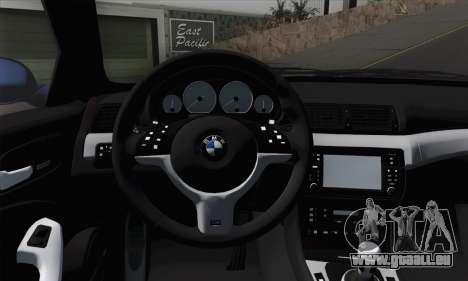 BMW E46 M3 pour GTA San Andreas sur la vue arrière gauche