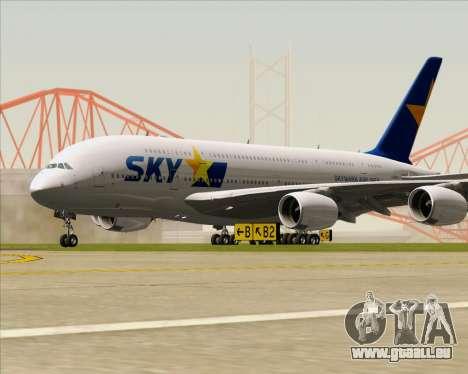 Airbus A380-800 Skymark Airlines pour GTA San Andreas laissé vue