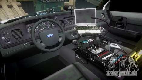 Ford Crown Victoria LC Sheriff [ELS] pour GTA 4 Vue arrière