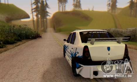 Dacia Logan Tuning für GTA San Andreas zurück linke Ansicht