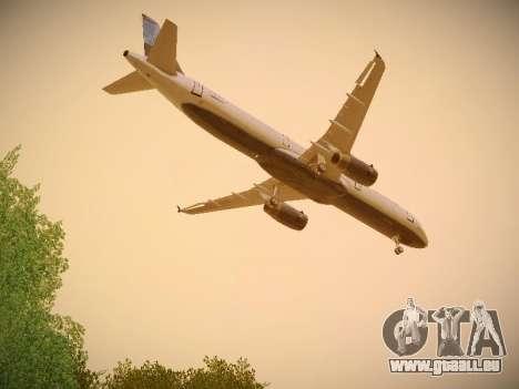 Airbus A321-232 jetBlue Do-be-do-be-blue pour GTA San Andreas vue intérieure