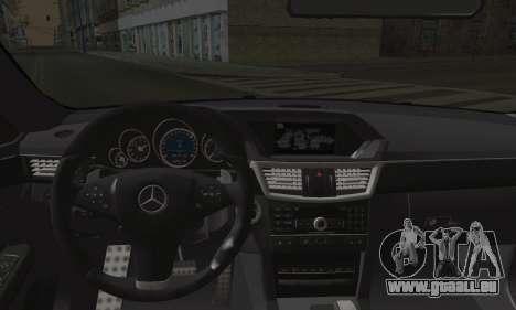 Mercedes-Benz W212 für GTA San Andreas zurück linke Ansicht