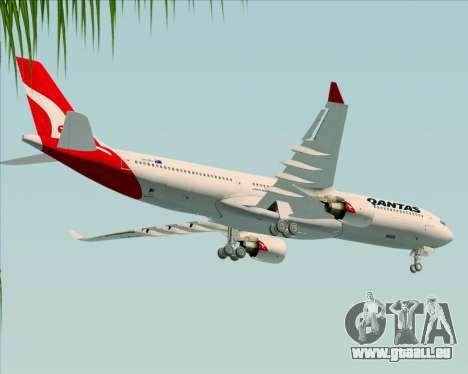 Airbus A330-300 Qantas (New Colors) pour GTA San Andreas vue de dessus