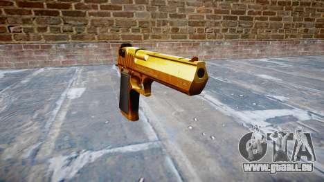 Pistole IMI Desert Eagle Mk XIX Gold für GTA 4