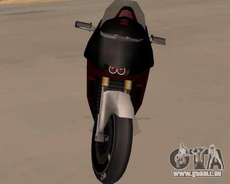 NRG-500 Winged Edition V.1 pour GTA San Andreas vue intérieure