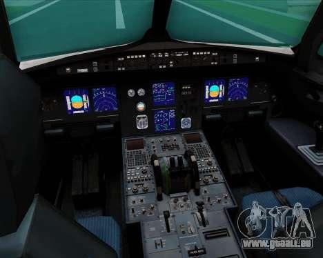 Airbus A321-200 US Airways für GTA San Andreas Innen