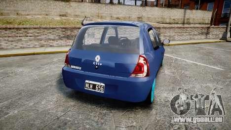 Renault Clio Mio 2014 für GTA 4 hinten links Ansicht