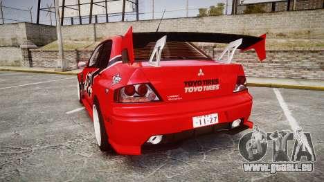 Mitsubishi Lancer Evolution IX Fast and Furious pour GTA 4 Vue arrière de la gauche