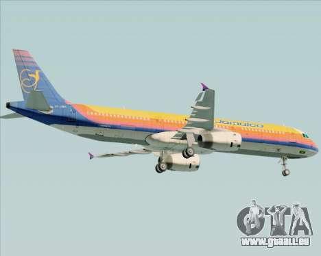 Airbus A321-200 Air Jamaica für GTA San Andreas Unteransicht