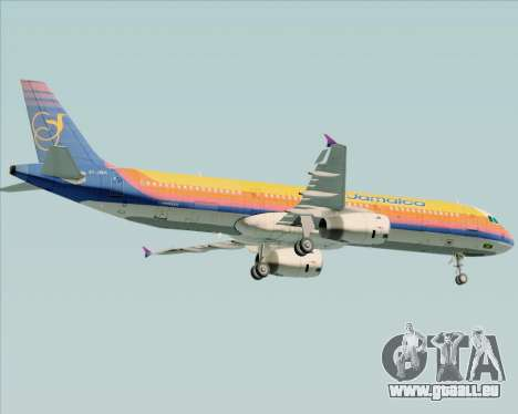 Airbus A321-200 Air Jamaica pour GTA San Andreas vue de dessous