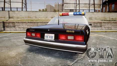 Chevrolet Impala 1985 LAPD [ELS] pour GTA 4 Vue arrière de la gauche