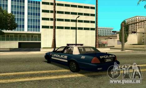 FCPD Ford Crown Victoria pour GTA San Andreas laissé vue