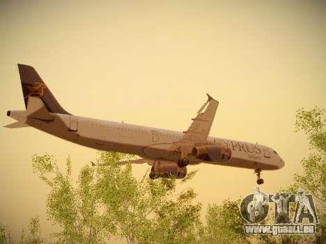 Airbus A321-232 Cyprus Airways pour GTA San Andreas vue intérieure