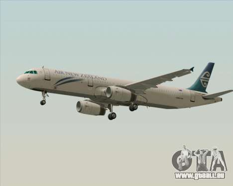 Airbus A321-200 Air New Zealand pour GTA San Andreas vue de côté