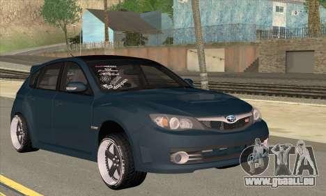Subaru Impreza WRX STI 2008 pour GTA San Andreas