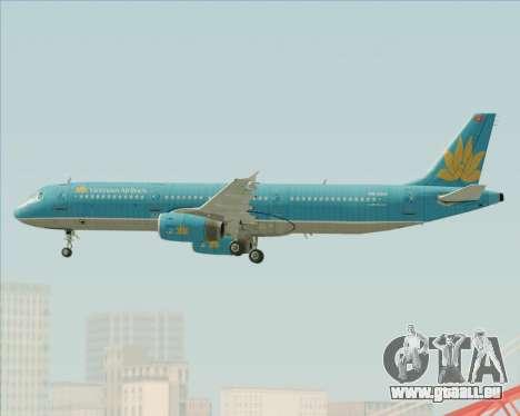 Airbus A321-200 Vietnam Airlines pour GTA San Andreas moteur
